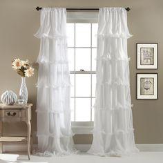 Lush Decor Nerina Ruffled Microfiber Curtain Panel - Overstock™ Shopping - Great Deals on Lush Decor Curtains