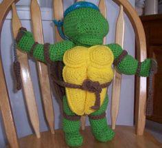 How to make a Crochet TMNT...too cute