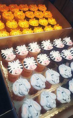 Zoo Animal Cupcakes.