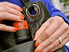 """NailPak: All In One Nail Polish, Remover, and File.  I'm the person in the video testing it on Amtrak.  I had to ask a stranger to do the camera work.  (Just try shooting video of yourself painting your nails, on a bumpy moving train.)  The helpful man was amused and commented,  """"Wow, I can't even smell it.  My girlfriend's nail polish is so much smellier."""""""