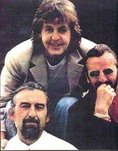 This was taken as part of the end of the Beatles Anthology. I believe they were at George's home. It is touching to watch, as you can see George is not well.