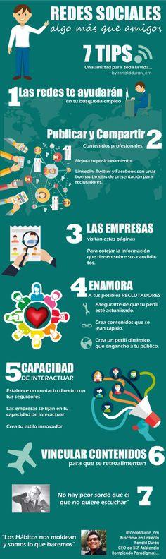 Redes Sociales: algo más que amigos #infografia #infographic #socialmedia