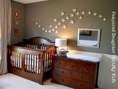 Baby nursery & toddler shared room... Like the white trim on bottom half of walls