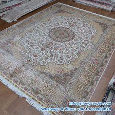Persian rug, Persian carpet, Handmade rug is supplied by Henan Yilong Carpet Co. Silk Carpet, Carpet, Oriental, Handmade Rugs, Rugs, Oriental Persian Rugs, Home Decor, Bohemian Rug, Rug Making