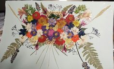 Real Pressed Flower Collage Bouquet on Thick by FlowerFelicity, $45.00