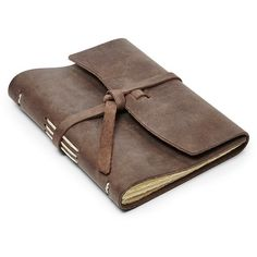 Fossil Rustico Leather Journal Fcu0022200 ($25) ❤ liked on Polyvore featuring home, home decor, stationery, fillers, books, extras and backgrounds