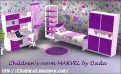 My Sims 3 Blog: Marvel Children's Bedroom Set by Dada