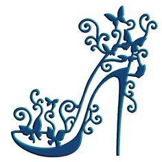 "Tattered Lace Dies by S. Weightman TTLD034 ~ High Heel Glam, 2.5"" x 3.5"" ~  NIP #TatteredLace"