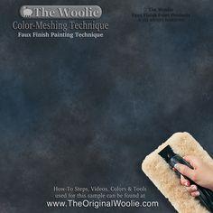 40 Faux Painting Color Combination Ideas Samples / Color-Meshing Faux Painting Technique by The Woolie Sponge Painting Walls, Faux Painting Walls, Home Depot, Faux Painting Techniques, Paint Techniques Wall, Faux Finishes For Walls, Wall Color Combination, Ralph Lauren Paint, Diy Wall Art