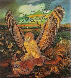 Eagles with fox, 1944 - Antonio Ligabue
