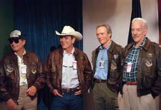 Donald Sutherland, Tommy Lee Jones, Leather Flight Jacket, Vintage Leather Jacket, Leather Jackets, Police Jacket, Military Jacket, Leather Fashion, Mens Fashion