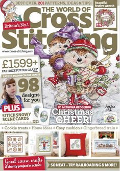 The World of Cross Stitching Issue 223 patterns pinned