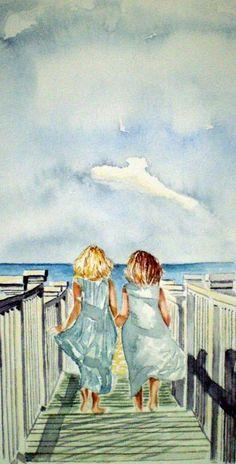 Sisters Painting by Paul Sandilands - Sisters Fine Art Prints and Posters for Sale http://fineartamerica.com/featured/sisters-paul-sandilands.html?utm_content=bufferd3efc&utm_medium=social&utm_source=pinterest.com&utm_campaign=buffer #art #paint