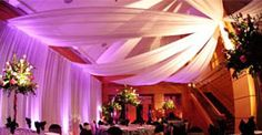 Drape Your Venue to create different areas for your guest to enjoy