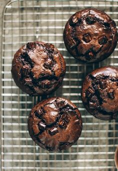 These are the ultimate brownie muffins—dark, rich, dense, and fudgy with a deep to-die-for chocolate flavor. Brownies are one of my favorite simple desserts in the whole world, and I have more than t Cookie Dough Cake, Chocolate Chip Cookie Dough, Double Chocolate Muffins, Healthy Chocolate Muffins, Brownie Muffin Recipe, Brownie Recipes, Chocolate Flavors, Chocolate Recipes, Chocolate Chocolate