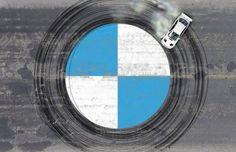 BMW Logo Ultimate Driving Machine Drawn By Drifting BMW