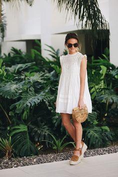 lauren sims little white dress #mindymaesmarket #dreamcloset