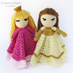 Pretty Princess Lovey crochet pattern by Bowtykes