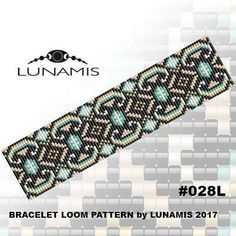 loom bracelet pattern, bead pattern, beading, loom stitch, square stitch, jewelry pattern, loom bracelet Bracelet design /pdf format/ pattern only. Create this beautiful cuff bracelet. This is a DIGITAL product, no physical goods will be sent! (Materials are NOT included!)