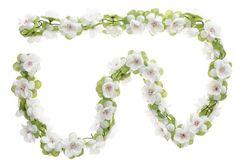 Blumengirlande weiß ~ ca. 130 cm ~ zum verschönern Ihres Fahrrades z.B. für Fahrradkorb , Lenker oder Ihrer Wohnung: Amazon.de: Sport & Freizeit $6