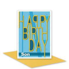 Son Happy Birthday card boy male blank inside or by stuartconcepts