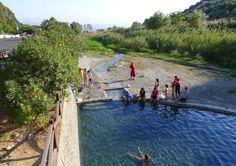 Roadside hot springs at Caronte, Lamezia Terme, Calabria, Italy