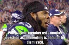 Teachers be asking too many questions at staff meetings. #teacherproblems