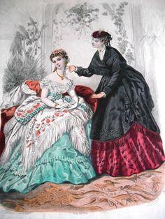 La Mode Illustree Fashion Print 1869