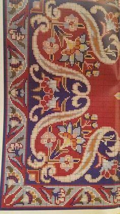 Embroidery Patterns, Cross Stitch Patterns, Chart Design, Chiffon, Needlework, Bohemian Rug, Carpet, Rugs, Knitting