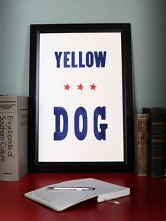 Yellow Dog - The South - Old Try - Letterpress Print