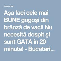 Aşa faci cele mai BUNE gogoși din brânză de vaci! Nu necesită dospit şi sunt GATA în 20 minute! - Bucataria Romaneasca