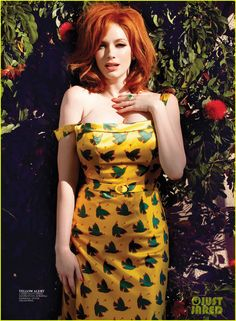 Christina Hendricks Covers Flare May 2013