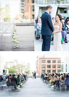 Rooftop wedding ceremony at  The Thompson Hotel in Toronto, Ontario.