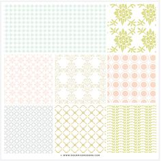Fresh Linen Patterns, $15.00 by Dear Miss Modern