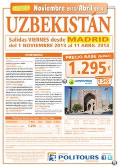 UZBEKISTAN, salidas del 3 de Enero al 11 Abril 14 desde Madrid (8d/6n) p.f 1.545€ ultimo minuto - http://zocotours.com/uzbekistan-salidas-del-3-de-enero-al-11-abril-14-desde-madrid-8d6n-p-f-1-545e-ultimo-minuto/