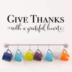Give Thanks with a grateful heart Decal  by StephenEdwardGraphic