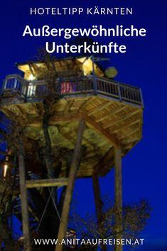4 besondere Unterkünfte in Kärnten. Jetzt Reisetipps für den Urlaub in den Alpen im Reiseblog nachlesen. #kärnten #hotel #baumhaus #glamping #althofen #biwak #millstättersee #erdhaus #weissensee #österreich