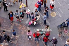 Stock Photo : Overhead of people walking along Circular Quay.