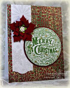 Stamps - Our Daily Bread Designs Merry Christmas Ornament, ODBD Christmas Paper Collection 2013,ODBD Custom Matting Circles Dies, ODBD Custom Peaceful Poinsettias Dies, ODBD Custom Circle Ornaments Die,ODBD Custom Doily Dies
