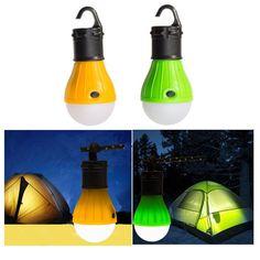 Hanging 3 LED Camping Tent Light Bulb Fishing Lantern Lamp
