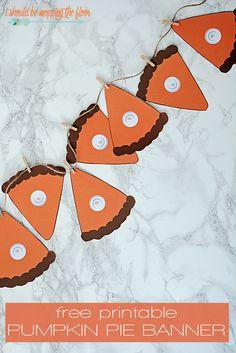 Free Printable Pumpkin Pie Banner