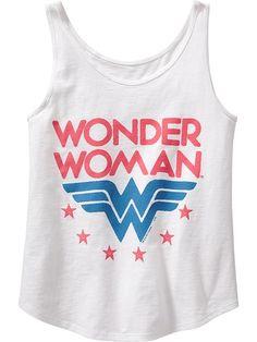 Girls DC Comics&#153 Wonder Woman Tanks Product Image