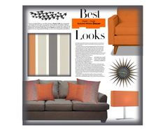 """Use this sofa #3"" by alynncameron ❤ liked on Polyvore featuring interior, interiors, interior design, home, home decor, interior decorating, Clarissa Hulse, MML, Universal Lighting and Decor and Brewster Home Fashions"