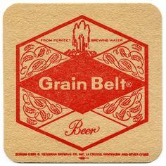 From Perfect Brewing Water. Grain Belt Beer, G. Heileman Co. Bar Coasters, American Beer, Beer Mats, La Crosse, Beer Signs, Beer Brewing, Craft Beer, Brewery, Beer Bottle