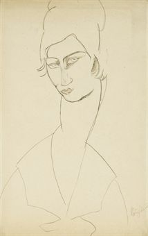 modigliani drawings | ... Modern Art Auction | 20th Century, Drawings  Watercolors | Christie's