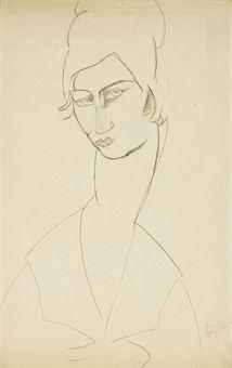 AMEDEO MODIGLIANI (1884-1920)  Portrait de Jeanne Hébuterne