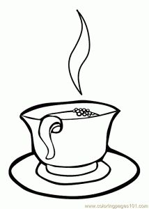 Drinks coloring pages
