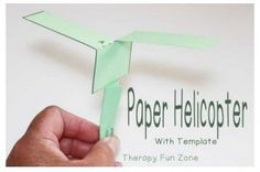 Pediatric Tx Activity of Week: Paper Helicopter-pinned by @PediaStaff – Please Visit  ht.ly/63sNt for all our pediatric therapy pins