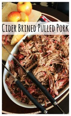 Cider Brined Pulled Pork to be specific. It is brined in an amazing salty sweet apple cider brine then smoked and slow roasted to tender fall apart perfection. Pork Rib Recipes, Pulled Pork Recipes, Smoker Recipes, Grilling Recipes, Grilling Ideas, Traeger Recipes, Bbq Ideas, Bbq Pork, Pork Ribs