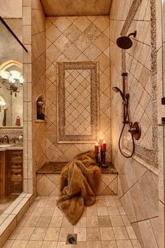 Tuscan Reflections - mediterranean - bathroom - other metro - Professional Desig. - Tuscan Reflections – mediterranean – bathroom – other metro – Professional Design Consultan - Mediterranean Bathroom, Decor, Shower Tile, Tuscany Kitchen, Beautiful Bathrooms, Shower Design, Tuscan Decorating, Tuscan Bathroom, Tuscan Kitchen Colors